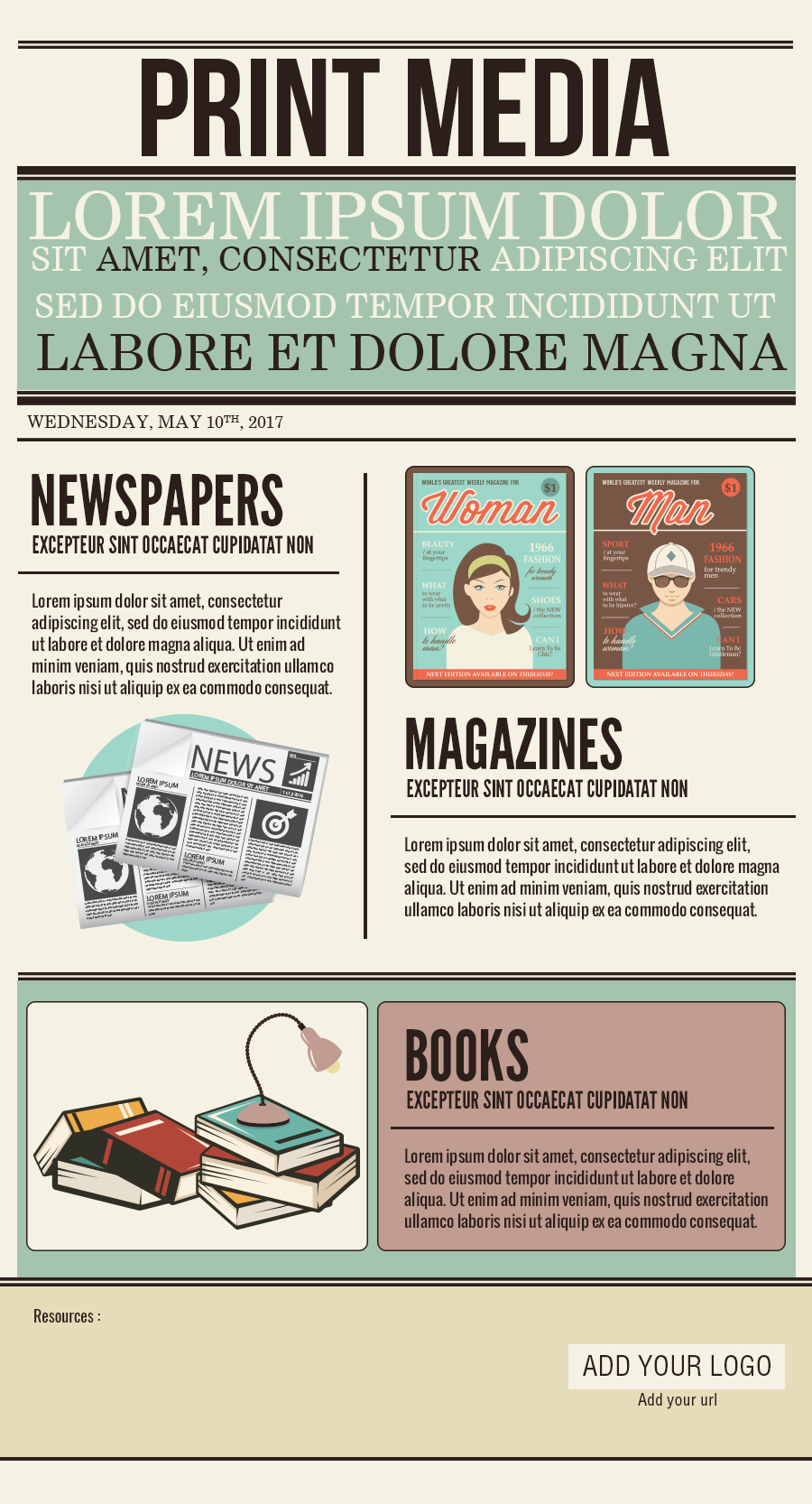 Print media PSD template [Infographic Template]