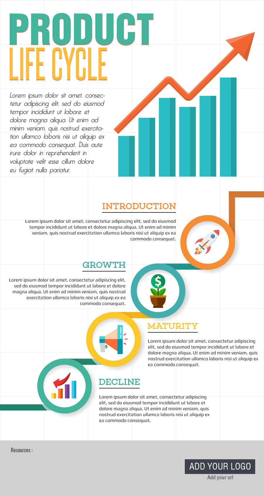 free infographic templates - product life cycle free template infographic template