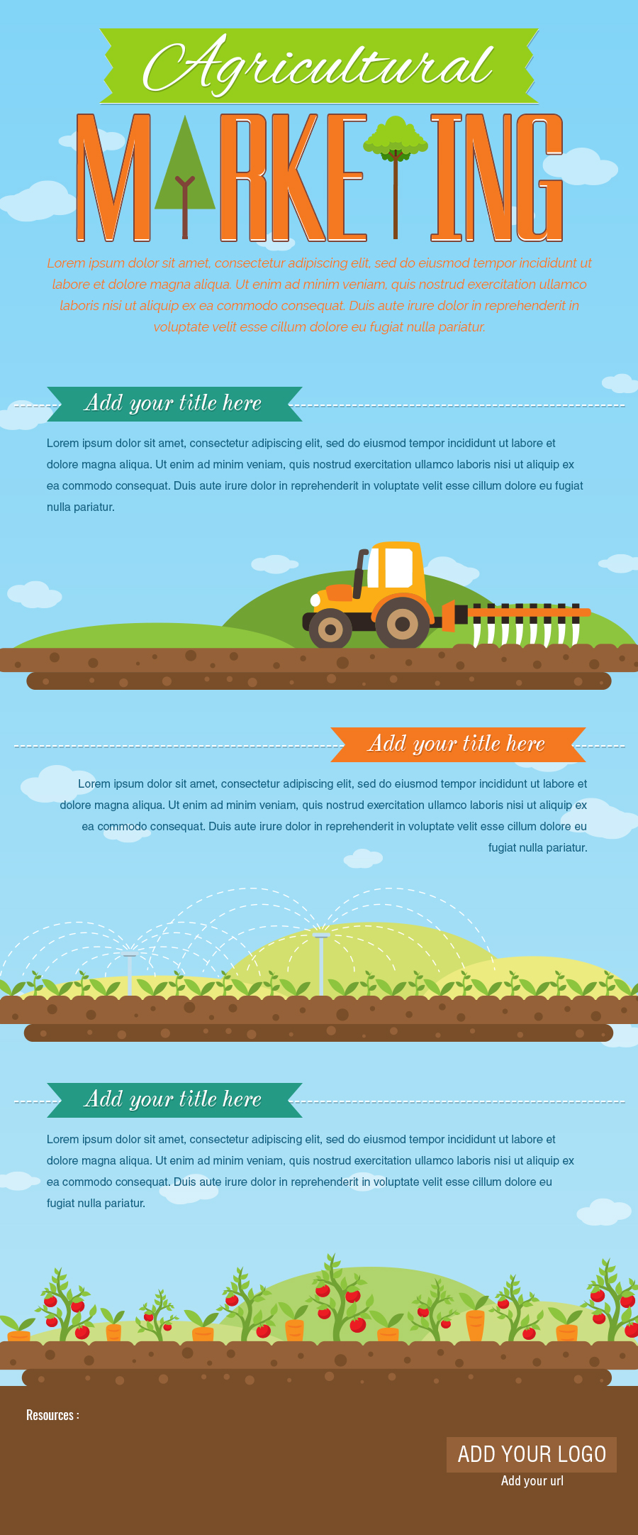 Agricultural Marketing Infographic Template - Gifographics.co