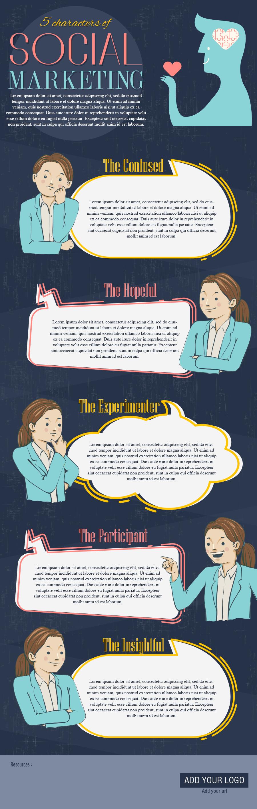 Social marketing - Infographic